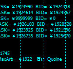 MT4のチャート上に複数の仮想通貨取引所のビットコインレートを表示する